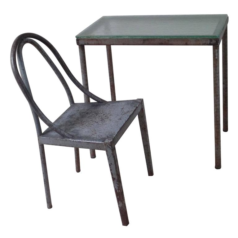 Important Modernist Prototype Desk & Chair by U.A.M. Attributed to Le Corbusier