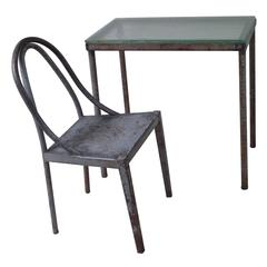 Important Modernist Prototype Desk & Chair by U.A.M. Attr, to Mallet-Stevens