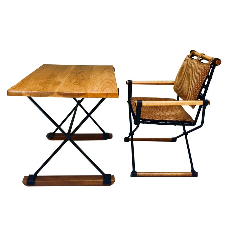 Cleo Baldon for Terra Desk and Campaign Chair, 1960s