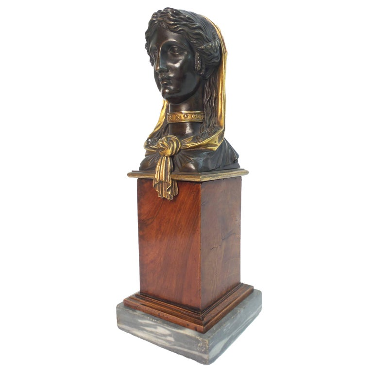Empire Gilt and Patinated Bronze Sculpture