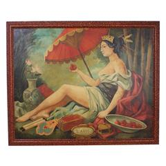 Large Oil on Canvas Painting Titled L'asie by William Skilling