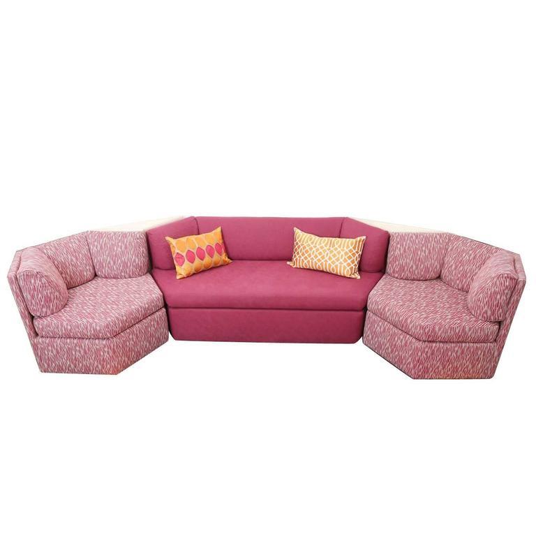 Mid Century Modern Thayer Coggin Modular Sofa and Tables w/ New ...