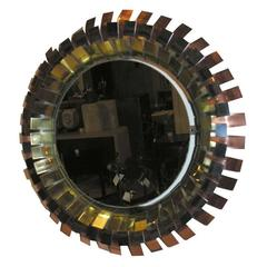 Curtis Jere Signed Eyelash Mirror Frame and Mirror