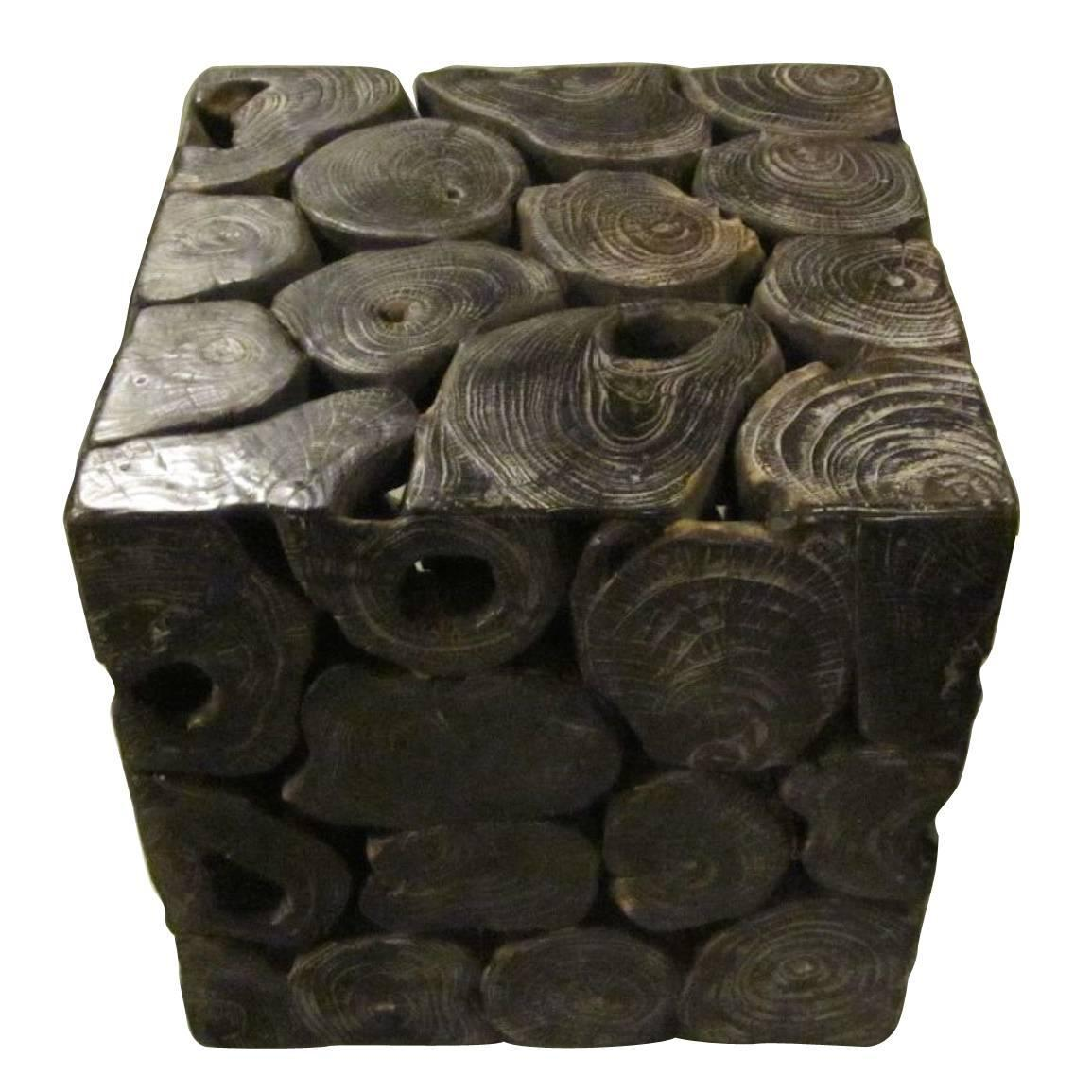 Brown Wood Slice Side Table Indonesia Contemporary at