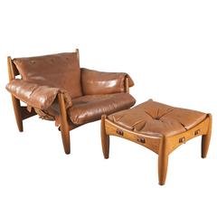 "Pair of ""Sheriff Armchairs"" by Sergio Rodrigues"