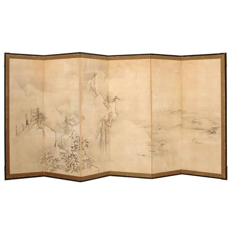 Meji Period Japanese Screen