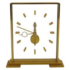 Jaeger LeCoultre Skeleton Clock Signed Switzerland 1960s