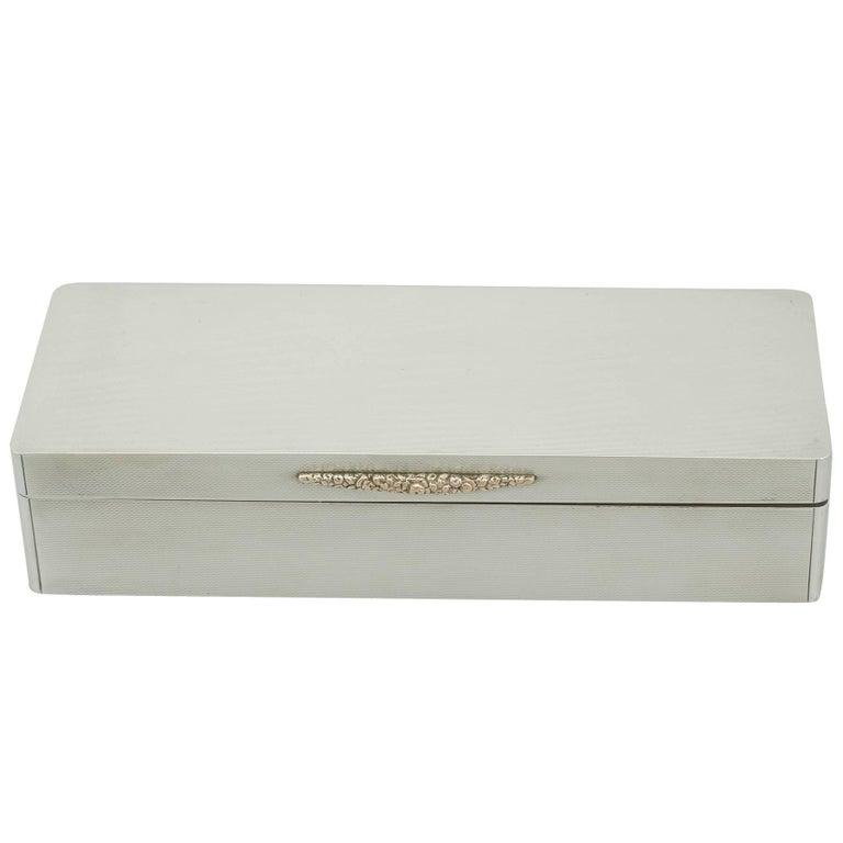 Sterling Silver Jewelry Box - Antique Edward VIII