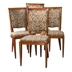 Set of Four Art Deco Style Mid-Century Modern Rosewood Dining Chairs