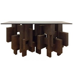 """Geo Console I"" Table by Dan Schneiger"