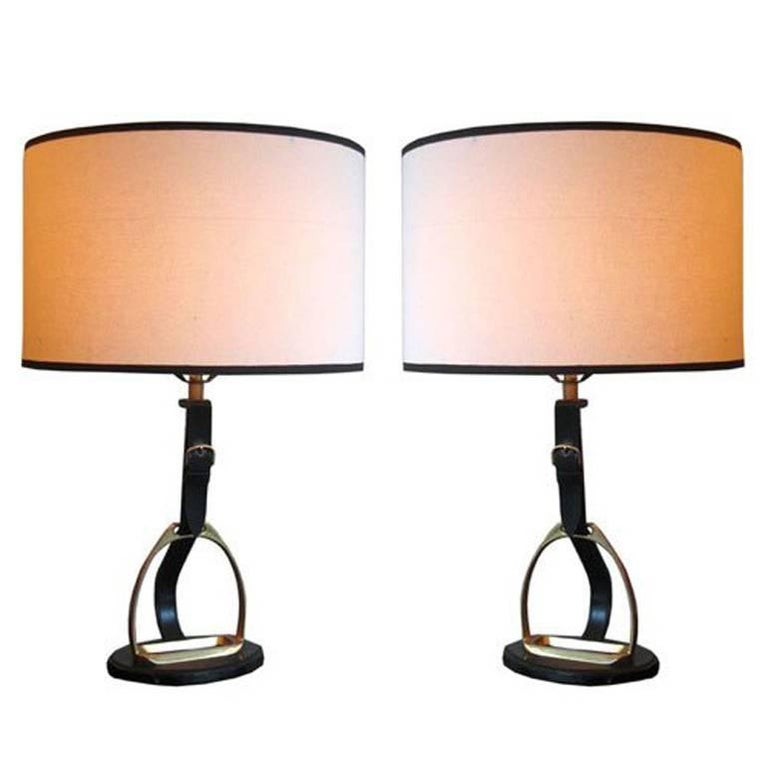 Leather Table Lamps Design Ideas