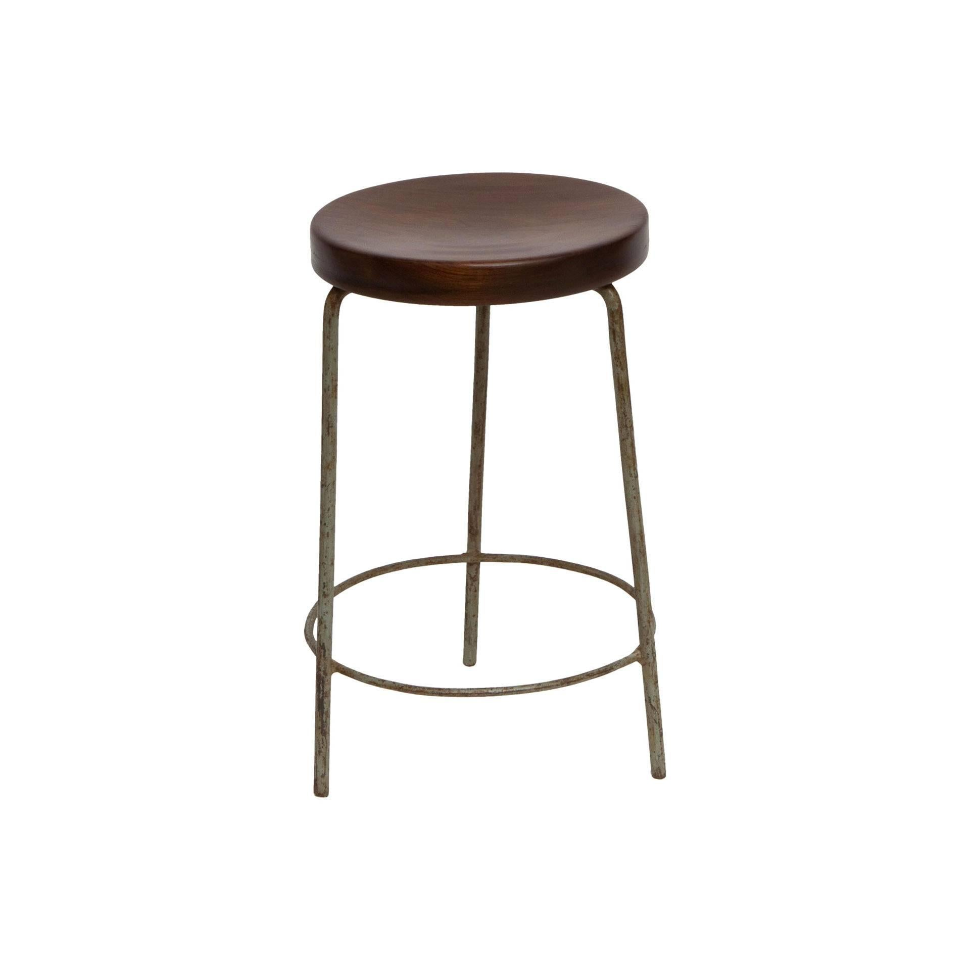 Pierre Jeanneret, Stool from High Court of Chandigarh, circa 1955-1956