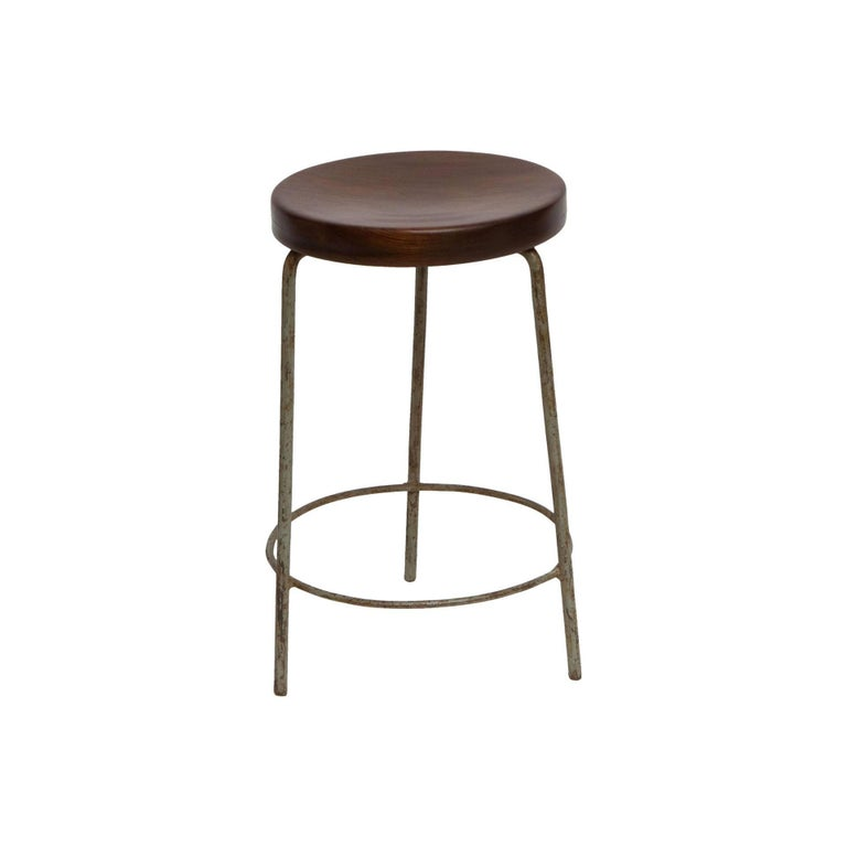 Pierre Jeanneret, Stool from High Court of Chandigarh, circa 1955-1956 For Sale
