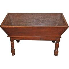 18th Century Dough Bin With Marble Top From Butcher Table