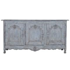 Antique French Louis XV Style Painted Oak Buffet, Enfilade, circa 1850