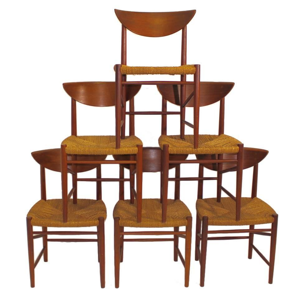 danish design dining chairs dining table dining room chairs by peter hvidt denmark circa 1956 for sale at 1stdibs