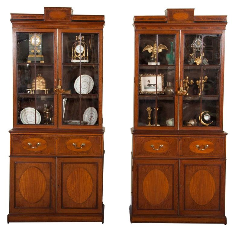 Rare Near Pair Of Regency Bookcases For Sale At 1stdibs