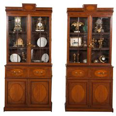 Rare Near Pair of Regency Bookcases