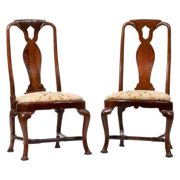 18th century queen anne side chairs for sale at 1stdibs for Side chairs for sale