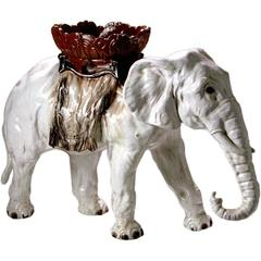 French Majolica Elephant