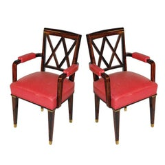 Jacques Adnet Pair of Armchairs
