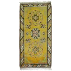 Yellow Antique Khotan Scatter Rug