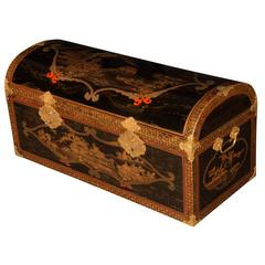 Rare Large Japanese Lacquer Coffer