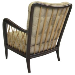 Italian Mid-Century Modern Neoclassical Armchair attributed to Paulo Buffa, 1940