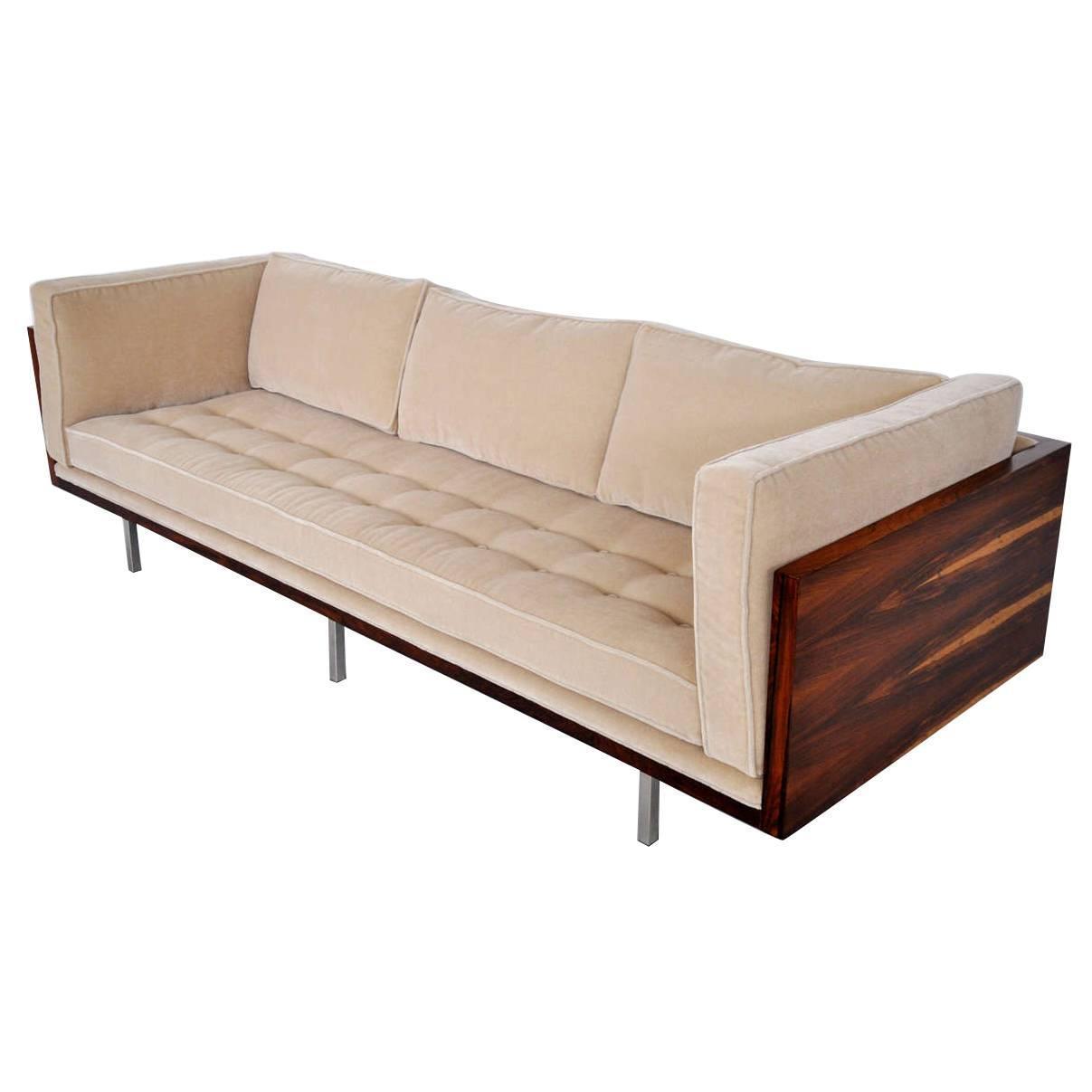 Milo Baughman Tosewood Case Sofa at 1stdibs