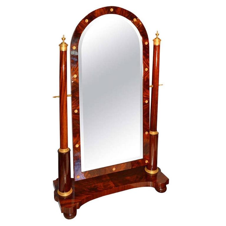 French empire cheval mirror for sale at 1stdibs for Cheval mirror
