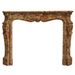 19th Century Breche d'allepe Louis XV Fireplace Mantel