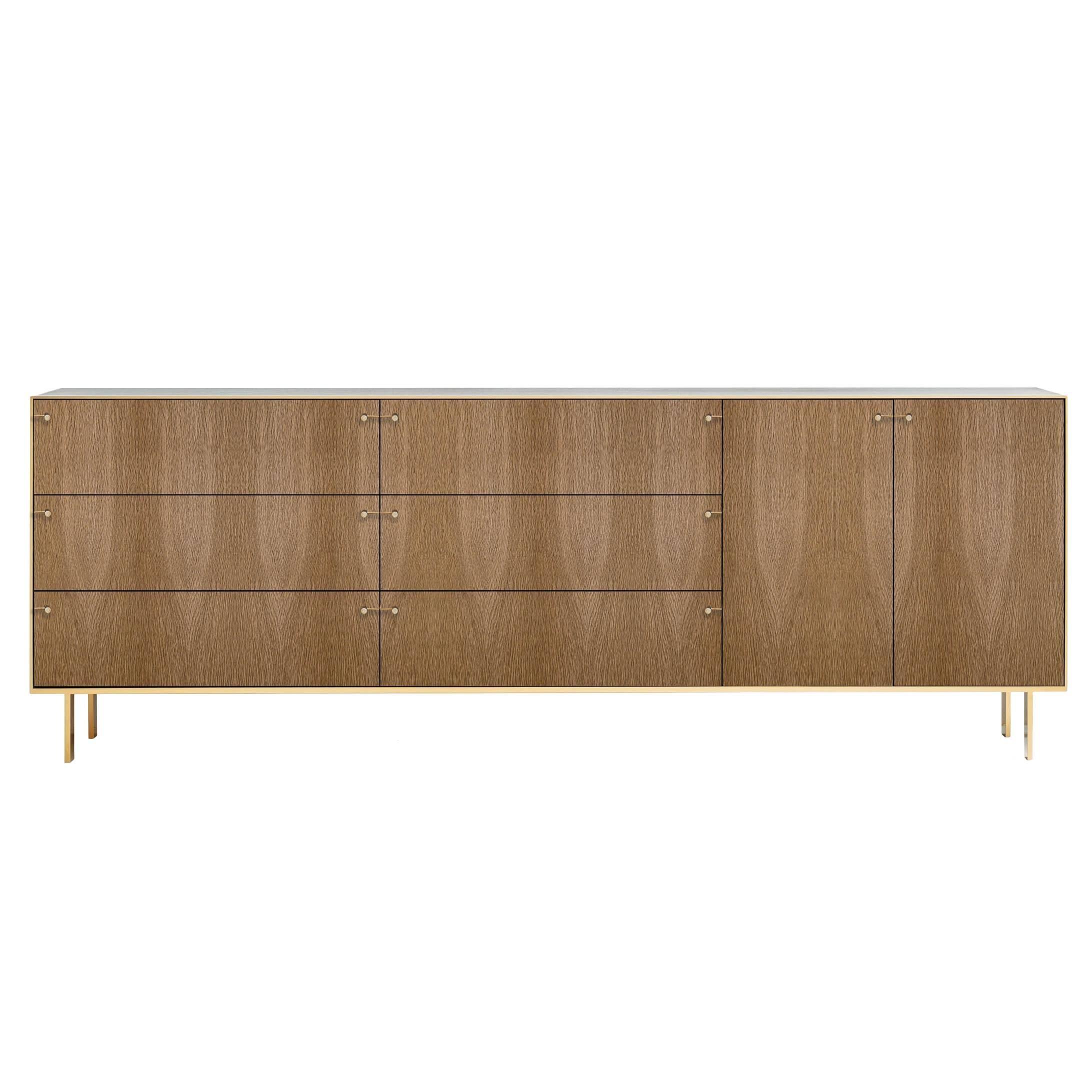 Ingemar Cabinet - Long (or Dresser or Sideboard or Buffet) in Oak and Bronze