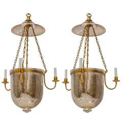 Mercury Glass Bell Jar Hurricane Lantern
