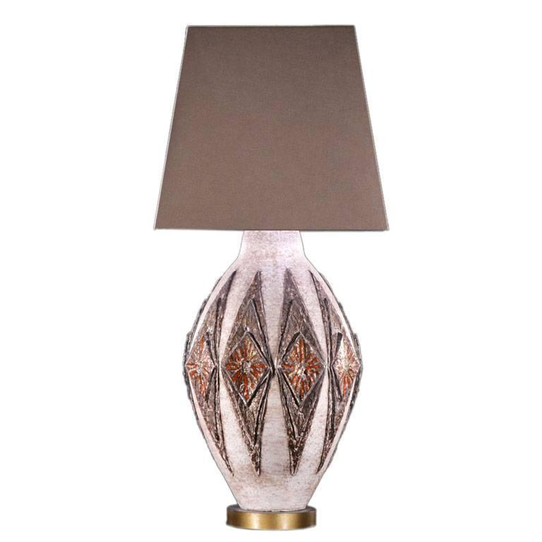 Single Ceramic Table Lamp by TYE of California, USA, Dated 1955