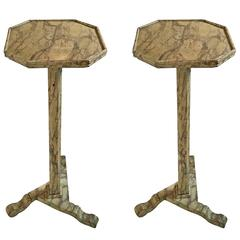Pair of Italian Marbleized Stands