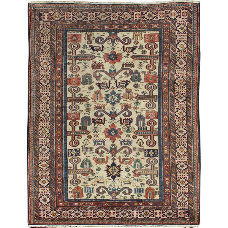 Antique Caucasian Prepedil Rug
