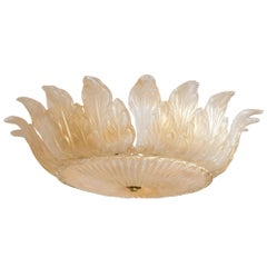 Gold Blown Crown Shaped Ceiling Fixture (2 available)