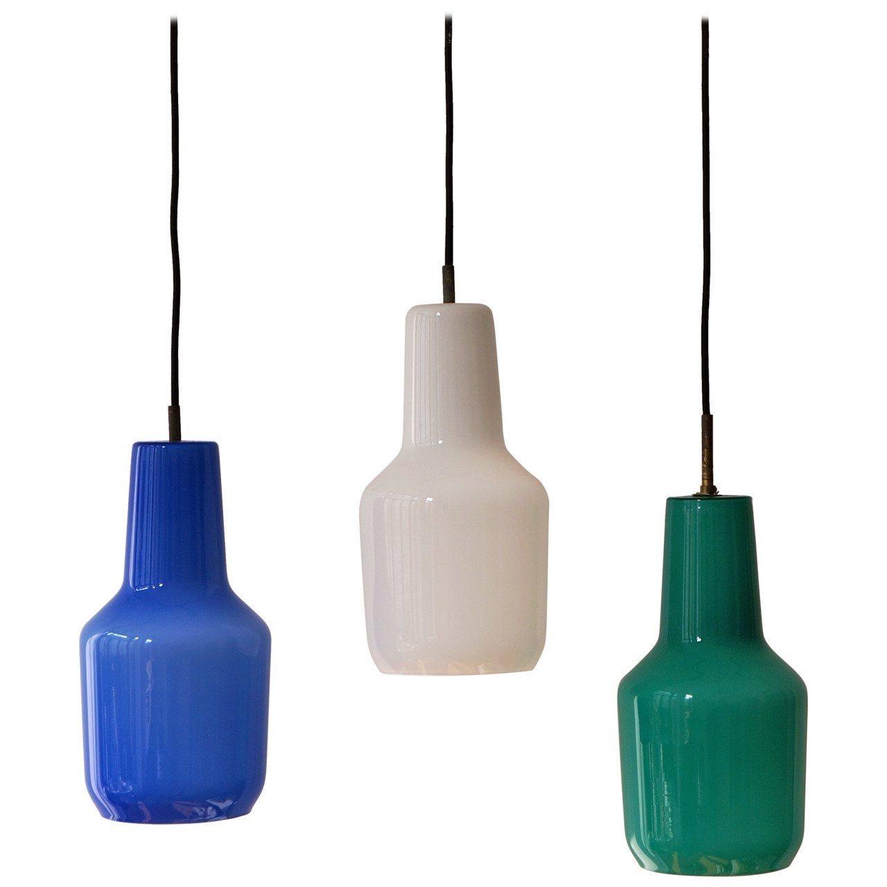 Four Venini Massimo Vignelli Pendant Lamps, 1960