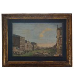 Pair of Hand-Colored Venetian Engravings after Canaletto