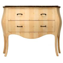 Hand-Painted Bombe Commode