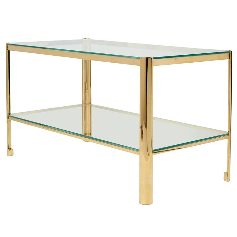 Bronze and Glass Cocktail Table by Jacques Quinet for Maison Malabert 1
