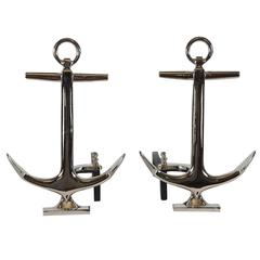 Anchor-Form Andirons, circa 1950