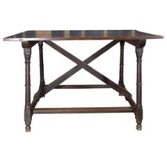 "French Cross ""X"" Stretcher Table"