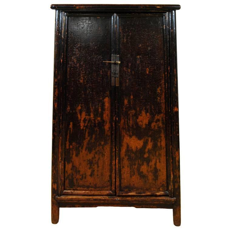 Black Lacquer Tapered Cabinet