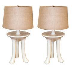 "John Dickinson Pair of ""Africa"" Table Lamps"