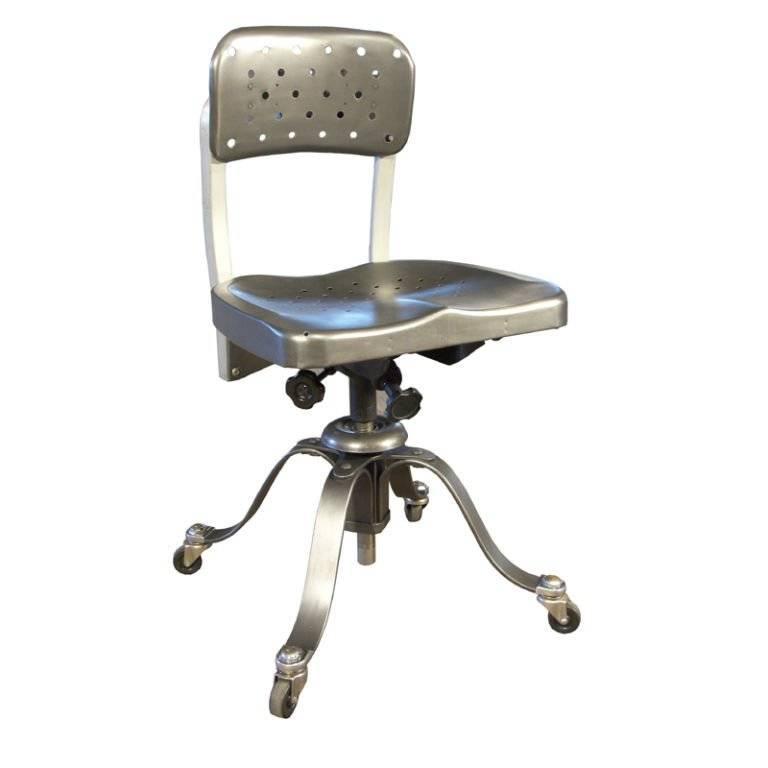 Vintage Industrial Metal Steel Remington Rand Adjustable Chair ...