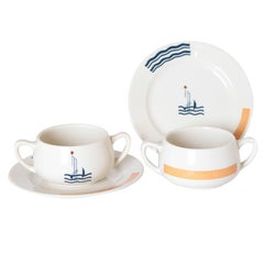 Art Deco S.S. Leviathan Two-Piece Matched Pairs Serveware, Eugene and Lee Schoen