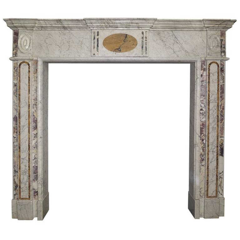 18th century irish georgian marble fireplace mantel for for Marble mantels for sale