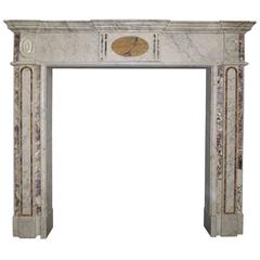 18th Century Irish Georgian Marble Fireplace Mantel