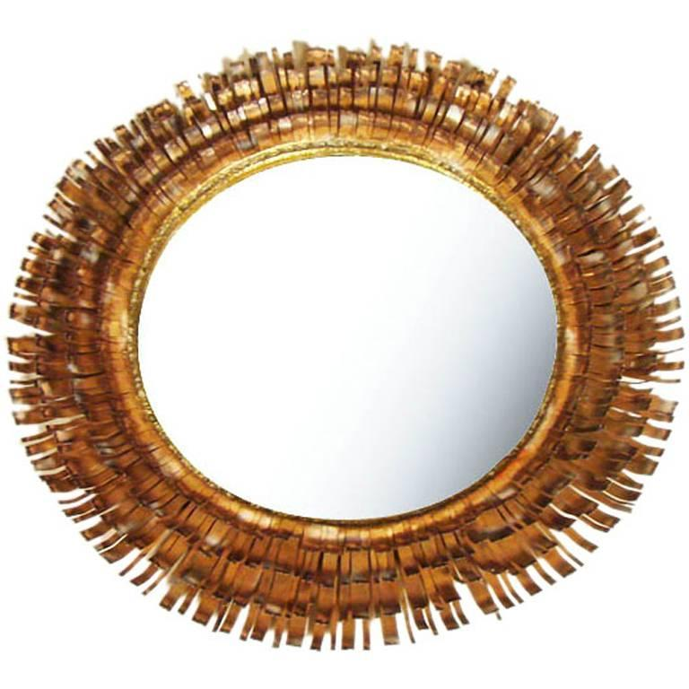 Eyelash Mirror by Curtis Jere For Sale